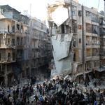 Алеппо бомбят пятый день