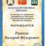 Благодарность Рашкину