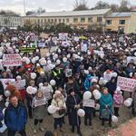 Около семи тысяч человек вышли в Волоколамске на митинг против полигона «Ядрово»